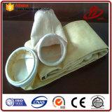 Sacchetto filtro acrilico della polvere della cosa repellente di acqua del feltro dell'ago nell'applicazione del cemento