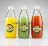 Suco de fruta sem chumbo garrafa de bebida de vidro com tampa