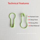 優れたQuality Green 22のmm Length Coated Metal Decoration Marking Safety Pins