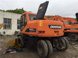 Usados Doosan Dh150W-7 usadas de excavadora de ruedas Doosan DH150 dh140 Excavadora de neumáticos