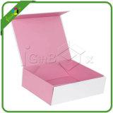 Nueva lujo de lujo del paquete plano reciclado de papel plegable caja de regalo