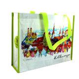 Shopping와 Promotional를 위한 Lamination와 더불어 길쌈된 Shopping Bag,