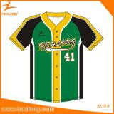 野球の摩耗ロゴによってカスタマイズされる人のソフトボールの野球のジャージーのユニフォームのワイシャツ