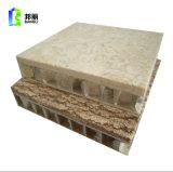 装飾的な石の上塗を施してある金属の別荘の屋根瓦のクラッディングの正面