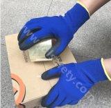 Волокна и Banboo спандекс трикотажные рабочие перчатки нитриловые из пеноматериала с покрытием (N1576)