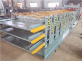 لون فولاذ يزجّج سقف ثلاثة طبقة لف باردة يشكّل آلة