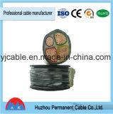 0.6/1kv haber reticulado de cobre, fuego, plástico, cable de transmisión inferior de verde de la chaqueta de PVC del humo con acorazado