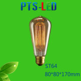 Bulbo del filamento de St64 4W 6W 8W 400-900lm Dimmable LED