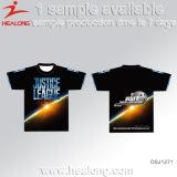 T-shirt d'impression de T-shirt de sublimation de T-shirt de Healong