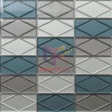 壁の装飾のしぶきによって使用される3Dガラスレンガのモザイク・タイル(CFC687)