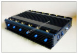 Powerfull 12 Band Signal Jammer for 2g+3G+2.4G+4G+GPS+VHF+UHF; 12 Antennal Mobile Phone Signal Isolator