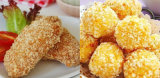 Il formaggio impanato della mozzarella attacca le briciole di pane che fanno la macchina