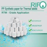 Sensible adhesivo térmico BOPP materiales de base para el Bar Coder Printable