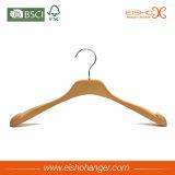 Gancio di vestiti di legno superiore della camicia di Eisho con le tacche (2HEK0006)