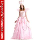 Les femmes Tinkerbell fleur rose robe de princesse fée marraine Costume