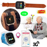 Het hete Verkopende Bejaarde GPS 3G/WCDMA Horloge van de Drijver met Camera Y19