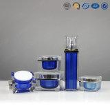 Emballage cosmétique acrylique en plastique de haute qualité Silver Gold Square