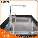 Robinet de robinet de cuisine à manette pivotante à forme carrée