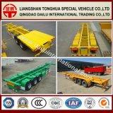 2-assen 45FT Gele Gooseneck van de Container Semi Aanhangwagen