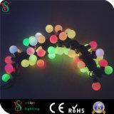 23mmの多色刷りの装飾の接続可能で小さい球ストリングは結婚式の装飾をつける