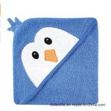 普及したデザイン綿の優雅なデザインの赤ん坊/子供のためのフード付きの浴室タオル