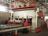 短いサイクルのメラミン合板のフィルムの表面ベニヤのための熱い出版物機械