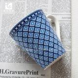 青いカラー11oz会社のロゴの磁器のコーヒー・マグの茶マグの飲み物のマグ