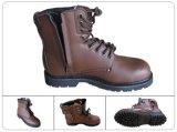 Cuero superior de acero Toe Sole Anti-Static deslizamiento resistentes zapatos de seguridad