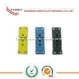 Tipo conectores de K de termocople mini con color amarillo en existencias