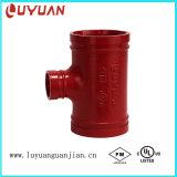 Bâti fileté réduisant le té pour le système de protection contre les incendies avec des homologations d'UL de FM