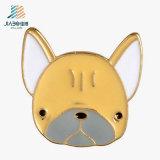 2017年のJiaboの供給の柔らかいエナメルの金属のカスタム子犬の折りえりピン