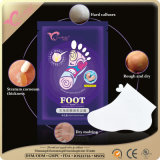 피부경결과 죽은 피부 치료에 의하여 부서진 발뒤꿈치 발 가면을 제거하십시오