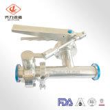 Les mesures sanitaires prix d'usine pneumatique en acier inoxydable/Levier manuel des robinets à papillon de soudage/thread