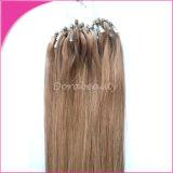 Castanho claro cabelos indiano Loop Micro Extensões de cabelo