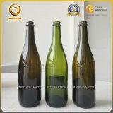 Shandong на поставщике стеклянной бутылки Шампань зеленого цвета сбывания (066)