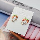 3 orecchini di cristallo della vite prigioniera delle Belhi di tintinnio di natale dello smalto di colori mini
