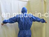 Combinaisons blanches remplaçables, procès de jet de la poussière, vêtement antipoussière non-tissé