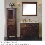 Governo di legno antico di vanità della stanza da bagno con il Governo laterale