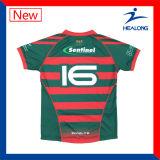 O projeto o mais novo de Healong de uniformes da equipe do Sublimation da camisola do rugby