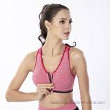 Fermeture à glissière avant l'aise Sports Yoga Soutien-gorge push up