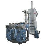 Double-Stages piston rotatif pour l'huile de pompe à vide de la déshydratation de la machine