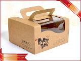 Scatola da pasticceria dell'imballaggio del contenitore di carta kraft del contenitore di regalo di promozione
