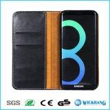 Lederner Mappen-Kippen-Luxuxfall für Samsung-Galaxie S8