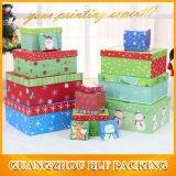 Caja de regalo de Navidad de papel cartón Boceto
