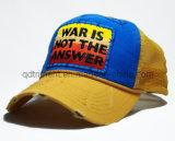 粉砕の洗浄された手はステッチするアップリケ刺繍のスポーツのトラック運転手の帽子(TRT023)を