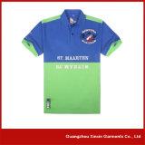 Constructeur court personnalisé de chemises de collier de sport de chemise (P33)
