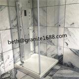 Mattonelle di marmo grige nuvolose di pietra di marmo bianche della parete