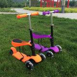 Tres Ruedas kick scooter bebé de plástico con asiento confortable