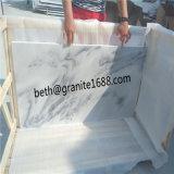 De witte Marmeren Tegels van de Muur van de Steen Bewolkte Grijze Marmeren