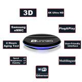 無線キーボードが付いている十分に付人間の特徴をもつTVボックスAmlogic S905Xのスマートセットの上ボックスWiFi